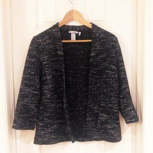 H&M Heathered Marled Open Front Cardigan